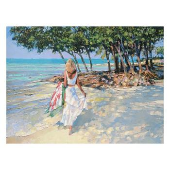 """Howard Behrens (1933-2014), """"My Beloved"""" Limited Edition on Canvas, Numbered and Signed with Certificate of Authenticity."""