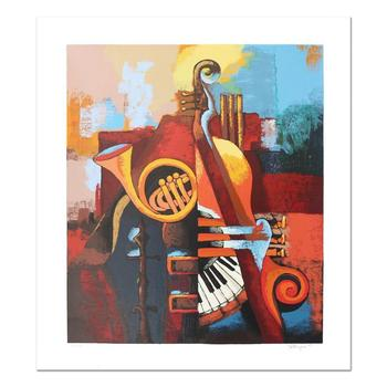 """Igor Kovalev, """"Symphony IV"""" Hand Signed Limited Edition Serigraph with Letter of Authenticity."""