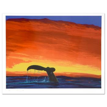 """Wyland, """"Sounding Seas"""" Limited Edition Lithograph, Numbered and Hand Signed with Certificate."""