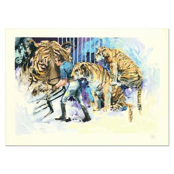 """Wayland Moore, """"Three Tigers in the Circus"""" Limited Edition Serigraph, Numbered and Hand Signed with Letter of Authenticity."""
