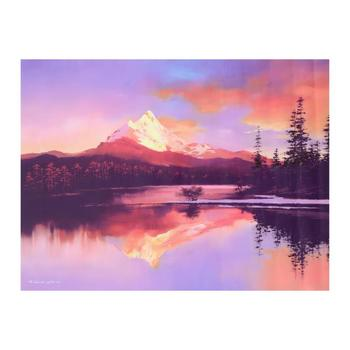 """H. Leung, """"Mt. Washington Sunset"""" Limited Edition on Canvas, Numbered and Hand Signed with Letter of Authenticity."""