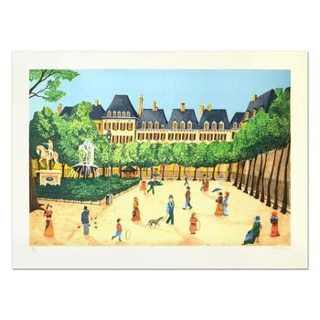 """Heine, """"Place"""" Limited Edition Lithograph, Numbered and Hand Signed."""