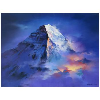 """Thomas Leung, """"Mountain Top"""" Limited Edition on Canvas, Numbered and Hand Signed with Letter of Authenticity."""