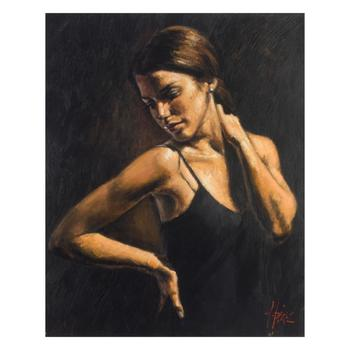 """Fabian Perez, """"Christine"""" Hand Textured Limited Edition Giclee on Board. Hand Signed and Numbered."""