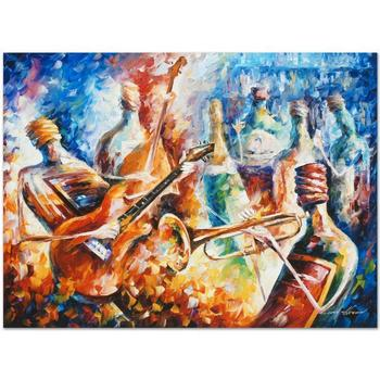 "Leonid Afremov (1955-2019) ""Bottle Jazz II"" Limited Edition Giclee on Gallery Wrapped Canvas, Numbered and Signed."