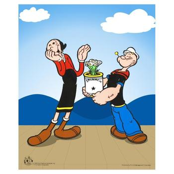 """Popeye Spinach"" Limited Edition Popeye Sericel with Official King Features Syndicate Seal. Includes Certificate."