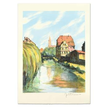 "Laurant, ""Village Breton"" Limited Edition Lithograph, Numbered and Hand Signed."