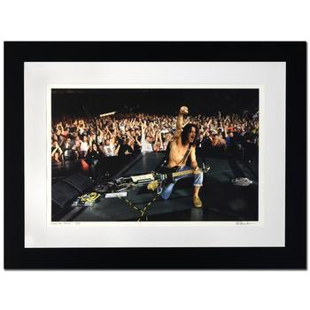 "Rob Shanahan, ""Eddie Van Halen"" Framed Limited Edition Giclee, Numbered and Hand Signed with Certificate."