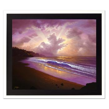 "Jon Rattenbury, ""Lullaby Seashore"" Ltd Ed Giclee on Canvas, Numbered and Hand Signed with Certificate."