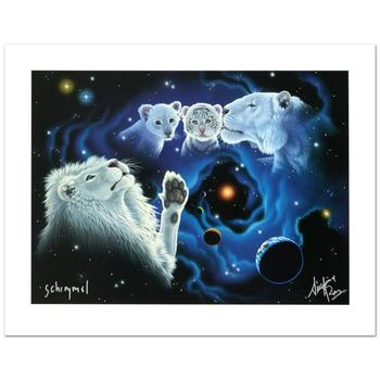"""William Schimmel, """"A Mother's Kiss..."""" Ltd Ed Giclee, Numbered & Hand Signed by the Artist and Siegfried & Roy, w/Cert."""