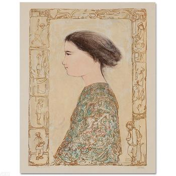 """Edna Hibel (1917-2014), """"China Profile"""" Limited Edition Lithograph, Numbered and Hand Signed with Certificate."""
