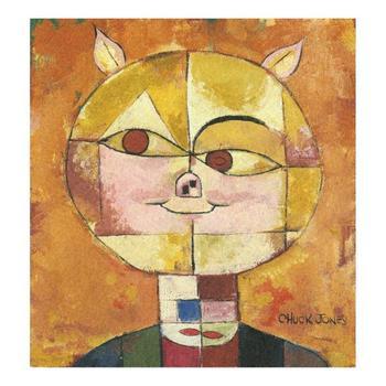 """Chuck Jones """"Portrait De Cochon"""" Hand-Signed Limited Edition Fine Art Stone Lithograph."""