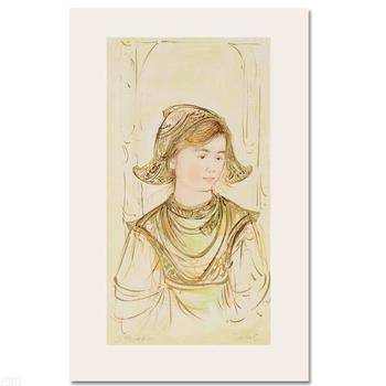 """Edna Hibel, """"Helen"""" Limited Edition Lithograph, Numbered & Hand Signed with Certificate."""