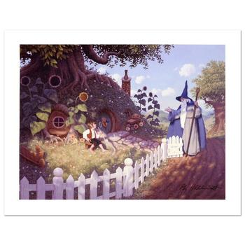 """Brothers Hildebrandt, """"Gandalf Visits Bilbo"""" Limited Edition Giclee on Canvas, Numbered and Hand Signed with Cert."""