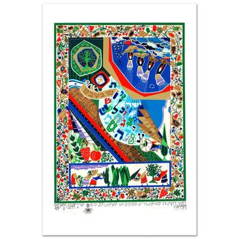 """Raphael Abecassis """"Tu B'Shvat"""" Limited Edition Serigraph; Numbered and Hand Signed; Certificate of Authenticity."""