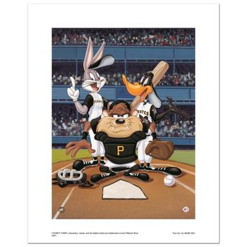 """""""At the Plate (Pirates)"""" Numbered Limited Edition Giclee from Warner Bros. with Certificate of Authenticity."""
