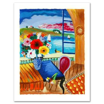 """Shlomo Alter, """"Quiet Afternoon"""" Limited Edition Serigraph, Numbered and Hand Signed by the Artist Certificate of Authenticity."""