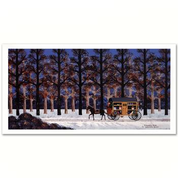 """Jane Wooster Scott, """"A Lonely Trek"""" Ltd Ed Lithograph, Numbered and Hand Signed with Certificate."""
