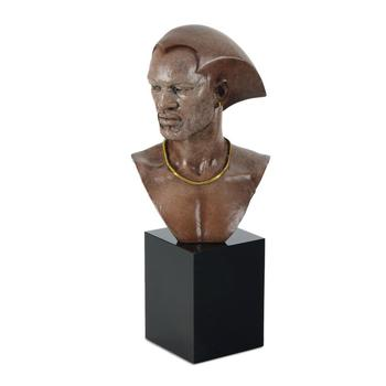 """Thomas Blackshear, """"Remembering"""" Limited Edition Mixed Media Sculpture on Marble Base, Numbered with Certificate of Authenticity"""