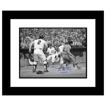 """""""Pete Rose - Fosse Collision"""" Framed Archival Photograph of the 1970 All-Star Game in Cincinnati, Autographed by Pete Rose."""