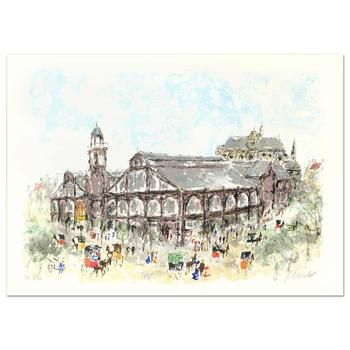 """Urbain Huchet, """"Les Halles"""" Limited Edition Lithograph, Numbered and Hand Signed."""