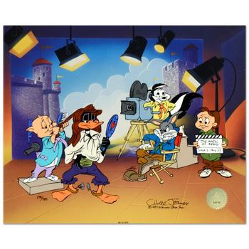 """Chuck Jones (d. 2002), """"Mark of Zero"""" Ltd Ed Animation Cel w/Hand Painted Color, Numbered and Hand Signed w/Cert."""