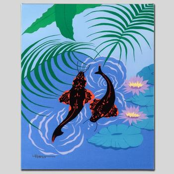 """Larissa Holt, """"Koi Garden"""" Ltd Ed Giclee on Gallery Wrapped Canvas, Numbered and Signed."""
