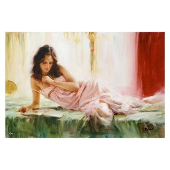 """Vidan, """"In Repose"""" Limited Edition on Canvas, Numbered and Hand Signed with Certificate."""
