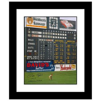 """""""Rose in Outfield at Crosley"""" Framed Archival Photograph Featuring Pete Rose Taken by Photographer Sarge Marsh."""