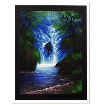 """Jon Rattenbury, """"The Wishing Falls"""" Ltd Ed Giclee on Canvas, Numbered and Hand Signed with Certificate."""
