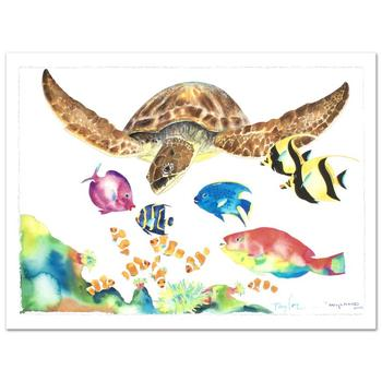 """Wyland, """"Something Fishee"""" Ltd Ed Giclee on Canvas (41"""" x 29.5""""), Numbered & Hand Signed by Wyland, w/Cert."""