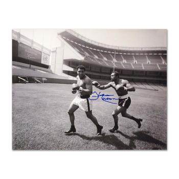 """""""Ken Norton and Ali, Yankee Stadium"""" Photograph. Hand-Autographed by Ken Norton (1943-2013) with Certificate."""
