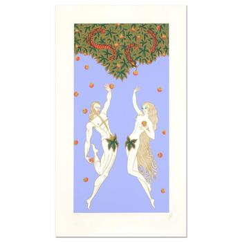"Erte (1892-1990), ""Adam and Eve"" Limited Edition Serigraph, Numbered and Hand Signed with Certificate."