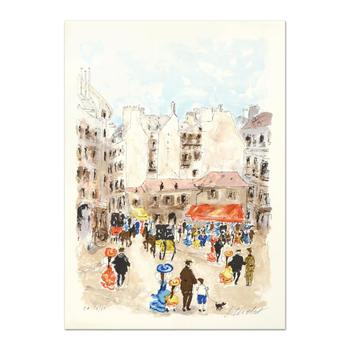 "Urbain Huchet, ""Left Bank"" Limited Edition Lithograph, Numbered and Hand Signed."