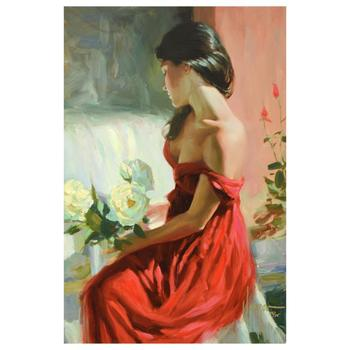 "Vladimir Volegov, ""From a Rose"" Ltd Ed Hand Embellished on Canvas, Numbered and Hand Signed with Certificate."