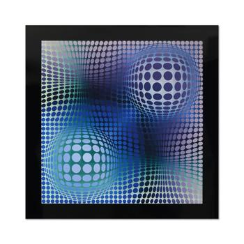 "Victor Vasarely (1908-1997), ""Feny"" Heliogravure Print, Titled Inverso."