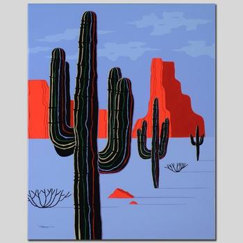 "Larissa Holt, ""Cacti"" Ltd Ed Giclee on Gallery Wrapped Canvas, Numbered and Signed."
