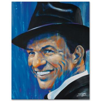 "Stephen Fishwick, ""Old Blue Eyes"" LIMITED ED Giclee on Canvas, Numbered and Signed."