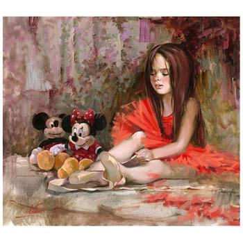 """Before the Lesson"" Embellished Limited Edition on Canvas by Irene Sheri from Disney Fine Art; Numbered, Signed, with COA."