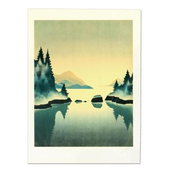 "Rand, ""Pine Trees"" Limited Edition Lithograph, Numbered and Hand Signed."