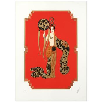 "Erte (1892-1990), ""Bamboo"" Limited Edition Serigraph, Numbered and Hand Signed with Certificate of Authenticity. (Disclaimer)"