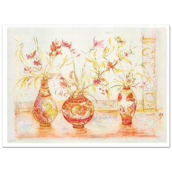 "Edna Hibel (1917-2014), ""Chinese Vase"" Limited Edition Lithograph (42"" x 29.5""), Numbered and Hand Signed with COA."