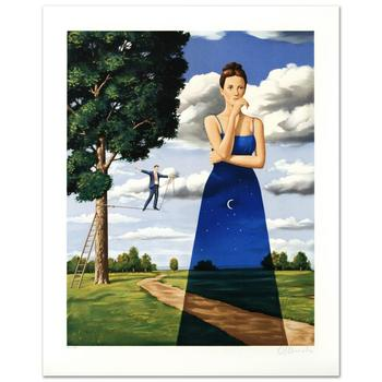 "Rafal Olbinski, ""Midsummer Marriage"" Ltd Ed Hand Pulled Original Lithograph Numbered and Hand Signed, with Cert."