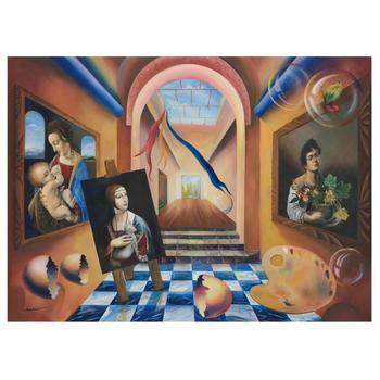 """Alexander Astahov, """"The Artist"""" Hand Signed Limited Edition Giclee on Canvas with Letter of Authenticity."""