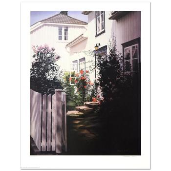 "Barbara Buer, ""Garden Gate"" Limited Edition Lithograph, Numbered and Hand Signed."