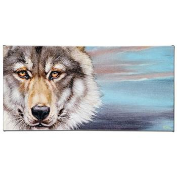 """Martin Katon, """"Wolf"""" Limited Edition Giclee on Gallery Wrapped Canvas, Numbered and Hand Signed."""