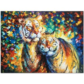 """Leonid Afremov (1955-2019) """"Family Portrait"""" Limited Edition Giclee on Gallery Wrapped Canvas, Numbered and Signed."""