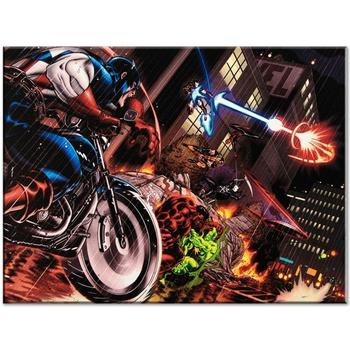 """Marvel Comics """"Avengers: X-Sanction #1"""" Numbered Limited Edition Canvas by Ed McGuinness; Includes COA."""