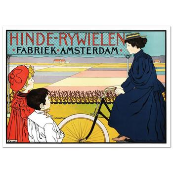 """Hinde Rywielen"" Hand Pulled Lithograph (38""x27"") by the RE Society,Orig. by Johann George Van Caspel w/Certificate."