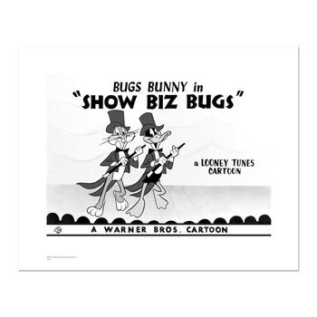 """""""Show Biz Bugs -Both Dancing"""" Numbered Limited Edition Giclee from Warner Bros. with Certificate of Authenticity."""